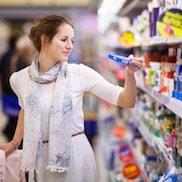 Schaltfläche, um zu den Lebensmittel Online Shops zu gelangen
