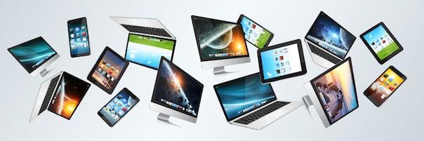 Stimmungsfoto zum Thema Elektronik online kaufen